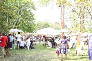 At the traditional and organic food festival Harare
